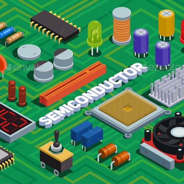 Semiconductor Isometric Background