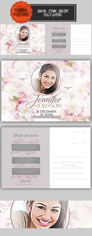 Funeral Program Postcard - Invitations Cards & Invites