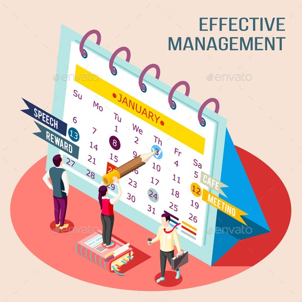 Effective Management Calendar Concept - Business Conceptual