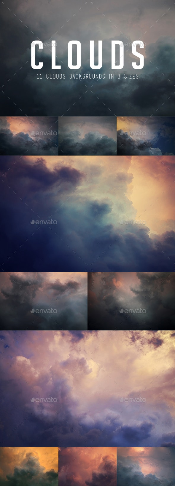 Clouds Sky Backgrounds - Nature Backgrounds