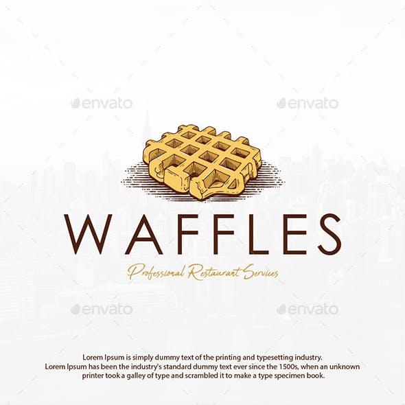 Sweet Waffle Logo Template