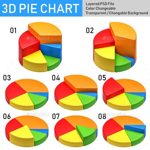 3D Pie Chart - Objects 3D Renders