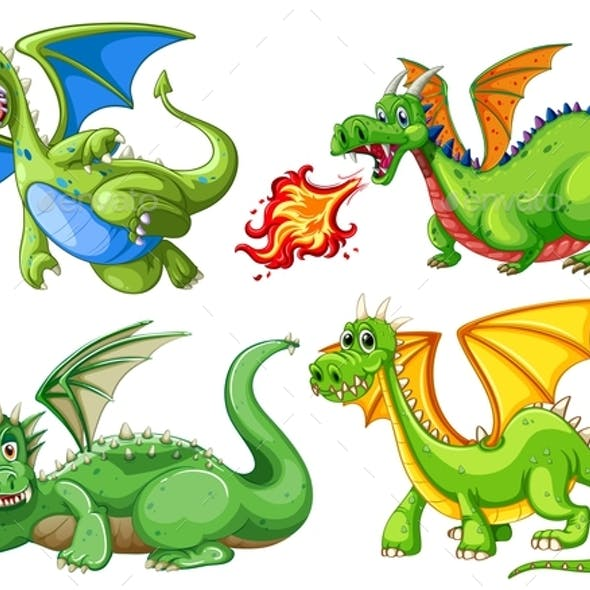 Set of Green Dragons