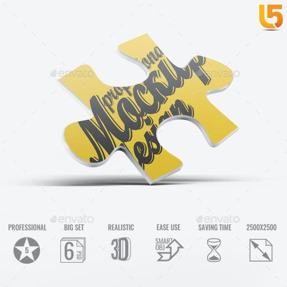 One Puzzle Piece Mock-Up