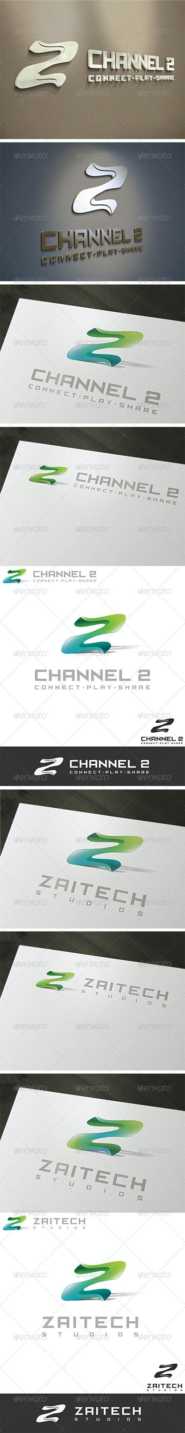 3D Z & 2 Logo Template - Letters Logo Templates