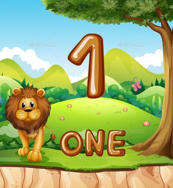 One Lion In Nature Background - Animals Characters