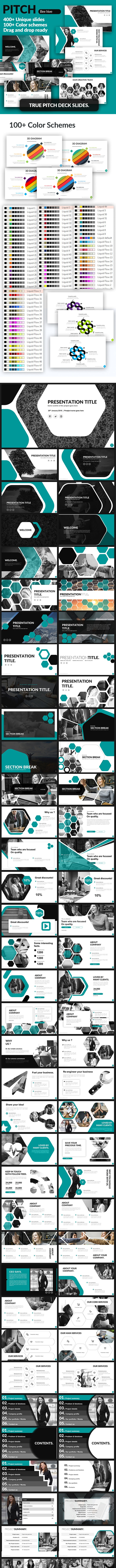 Bee Hive - Pitch Deck Presentation Template - Pitch Deck PowerPoint Templates