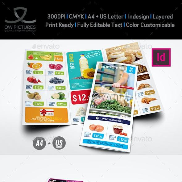 Supermarket Products Tri-Fold Catalog Brochure Vol.5