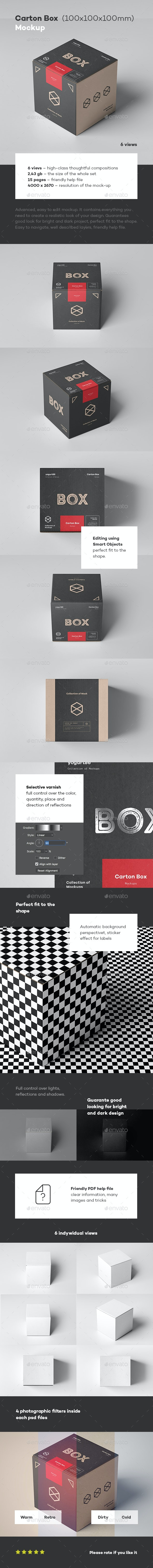 Carton Box Mockup 100x100x100 - Miscellaneous Packaging