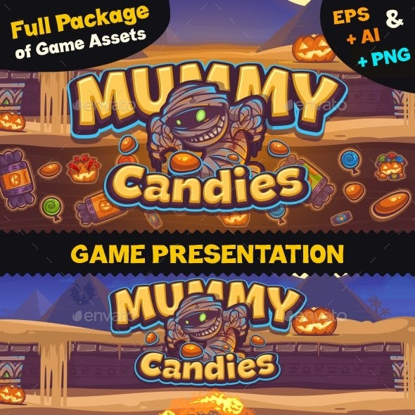 Game Assets for Mummy Candies
