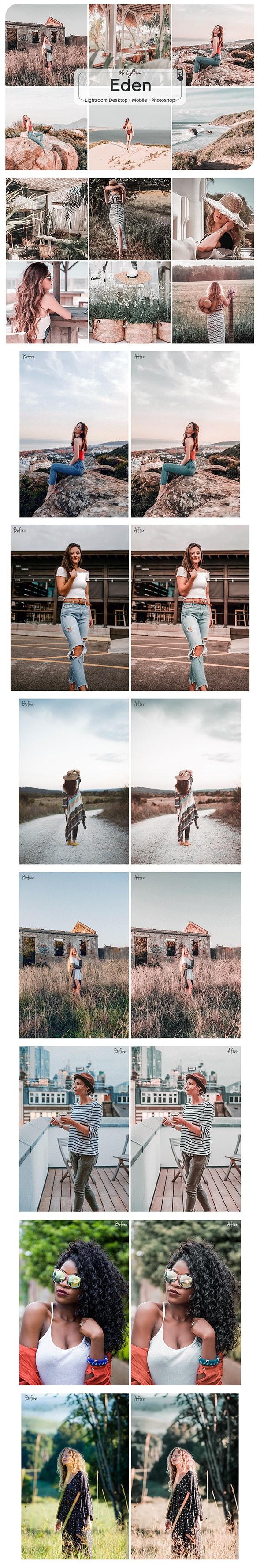 Eden Lightroom Desktop and Mobile Presets - Portrait Lightroom Presets