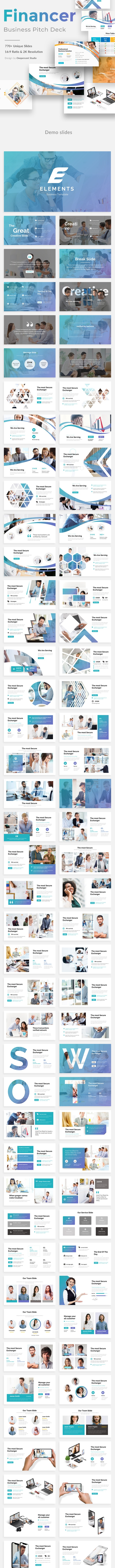 Finaner Pitch Deck 3 in 1 Bundle Powerpoint Template - Business PowerPoint Templates