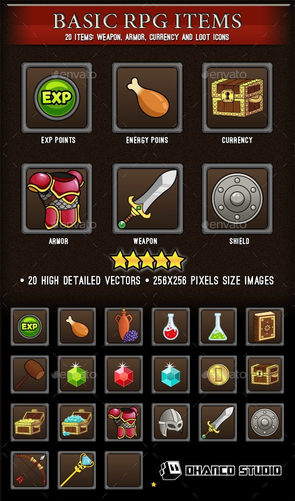 Basic RPG Items - Miscellaneous Game Assets