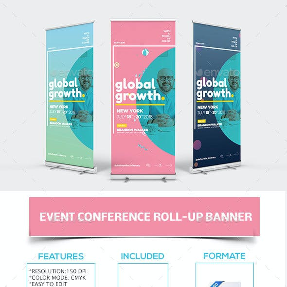 Event Conference Roll-up Banner