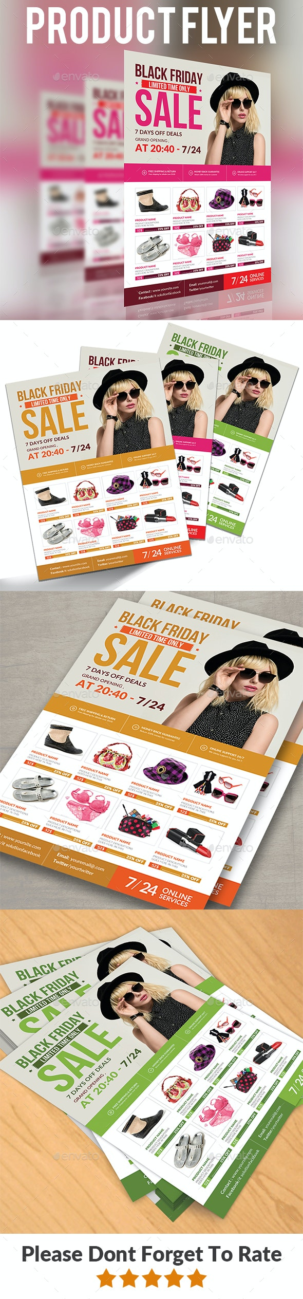 Product Promotion Flyer Templates - Commerce Flyers