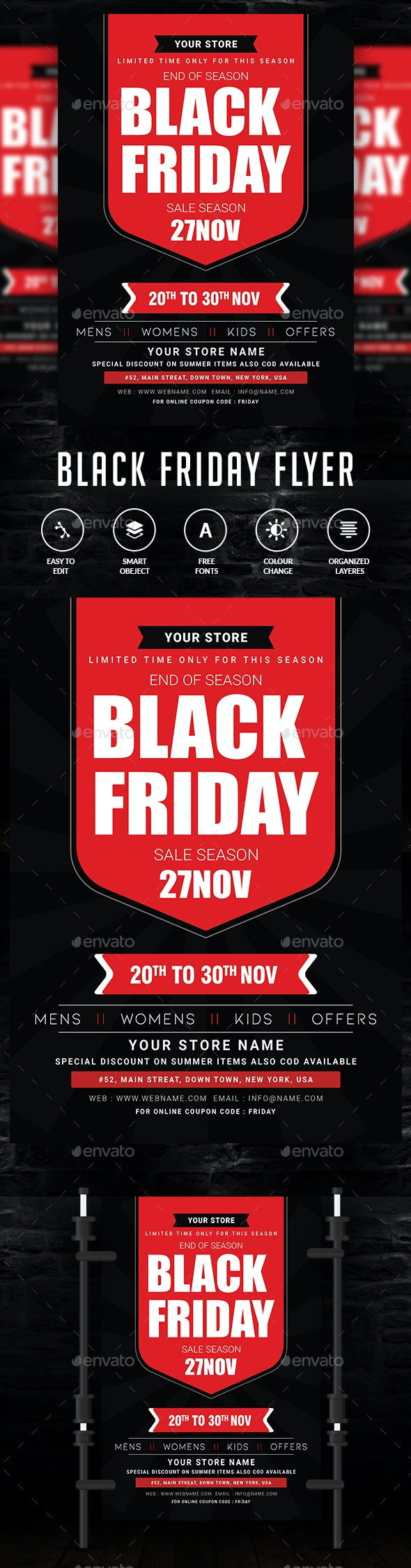 Black Friday Flyer - Clubs & Parties Events