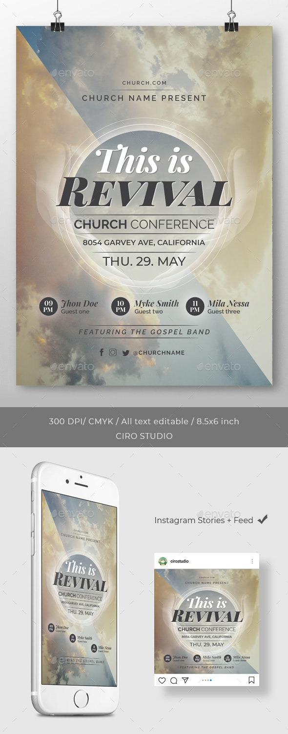 This is Revival - Church Conference Flyer Template - Church Flyers