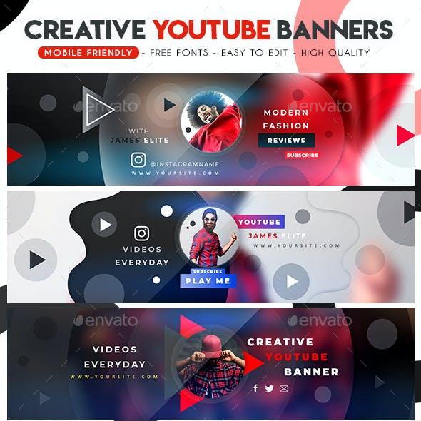 Creative Multipurpose YouTube Banners