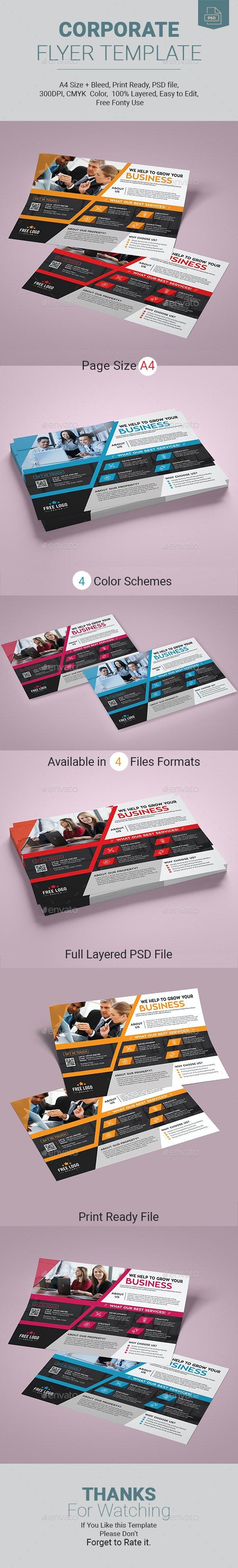 Corporate Flyer Template - Corporate Business Cards