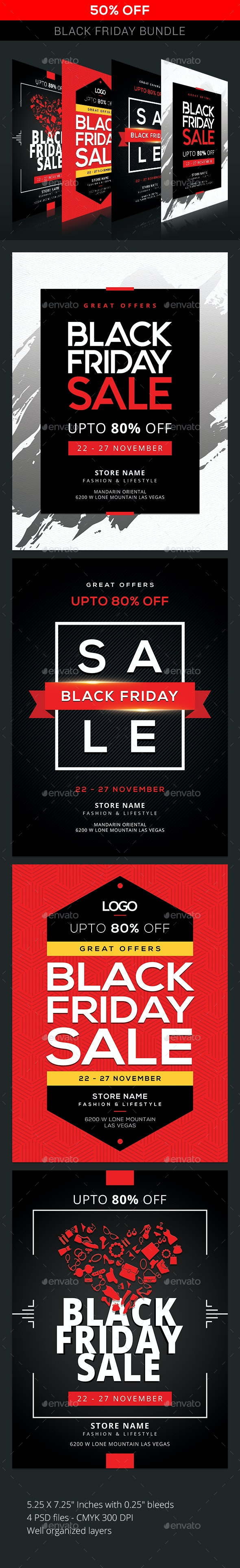 Black Friday Bundle - Events Flyers