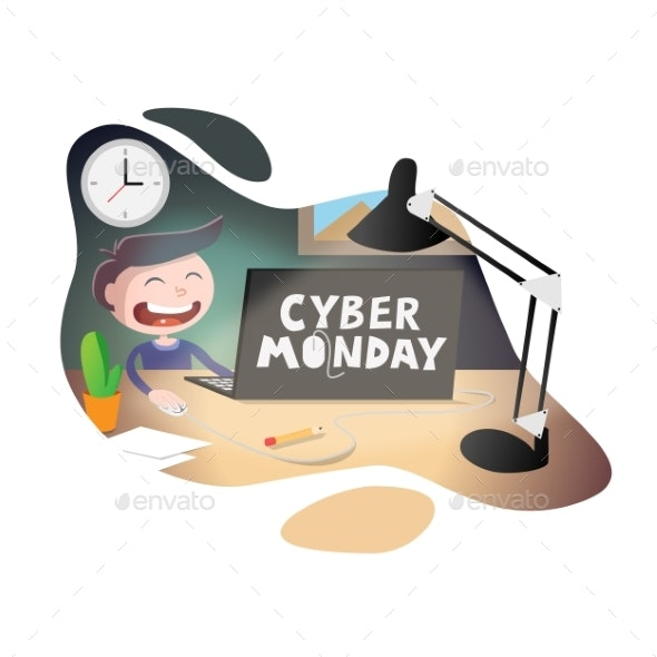 Cyber Monday Sale Vector Illustration - Miscellaneous Vectors