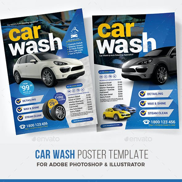 Car Wash Poster / Flyer Template