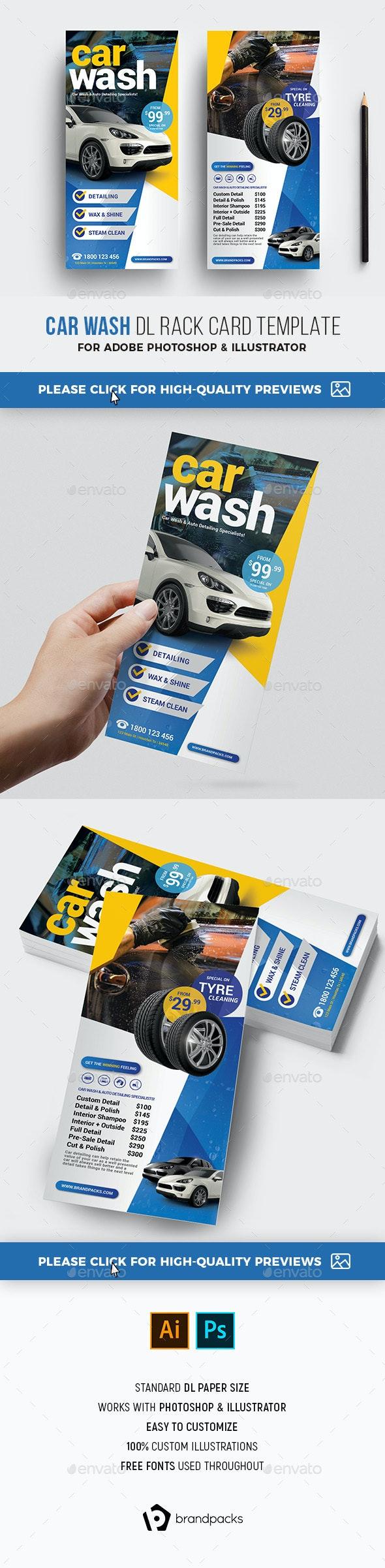 Car Wash DL Card - Corporate Flyers