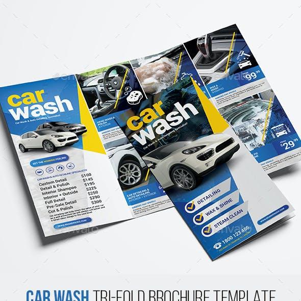 Car Wash Trifold Brochure