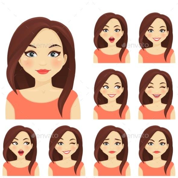 Woman Expression Set