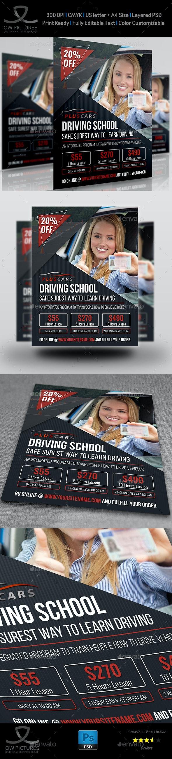 Driving School Flyer Template Vol.2 - Commerce Flyers