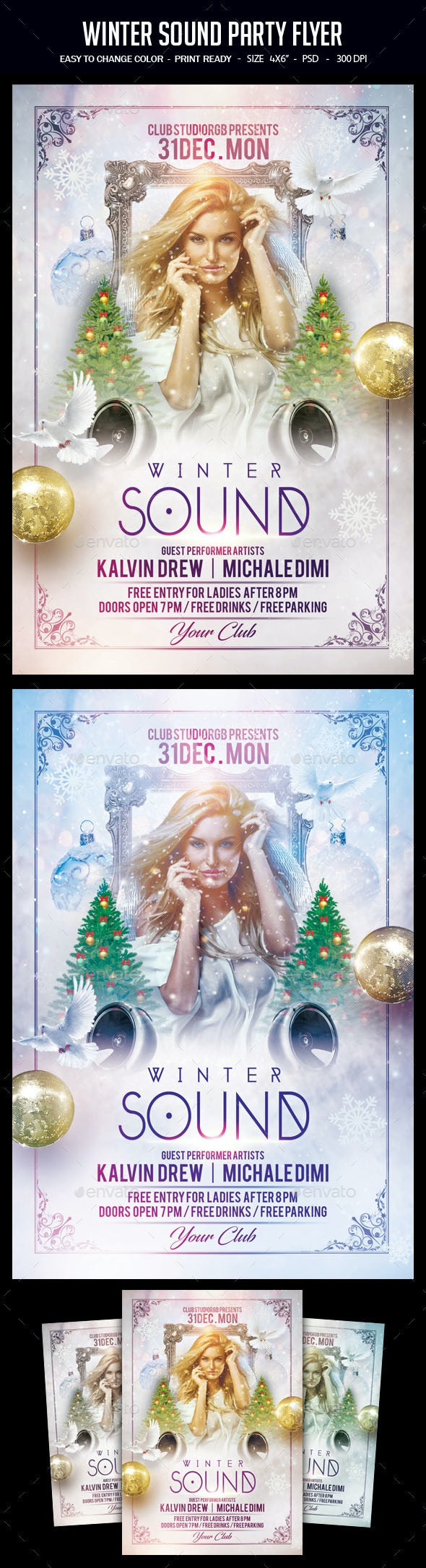 Winter Sound Party Flyer - Clubs & Parties Events
