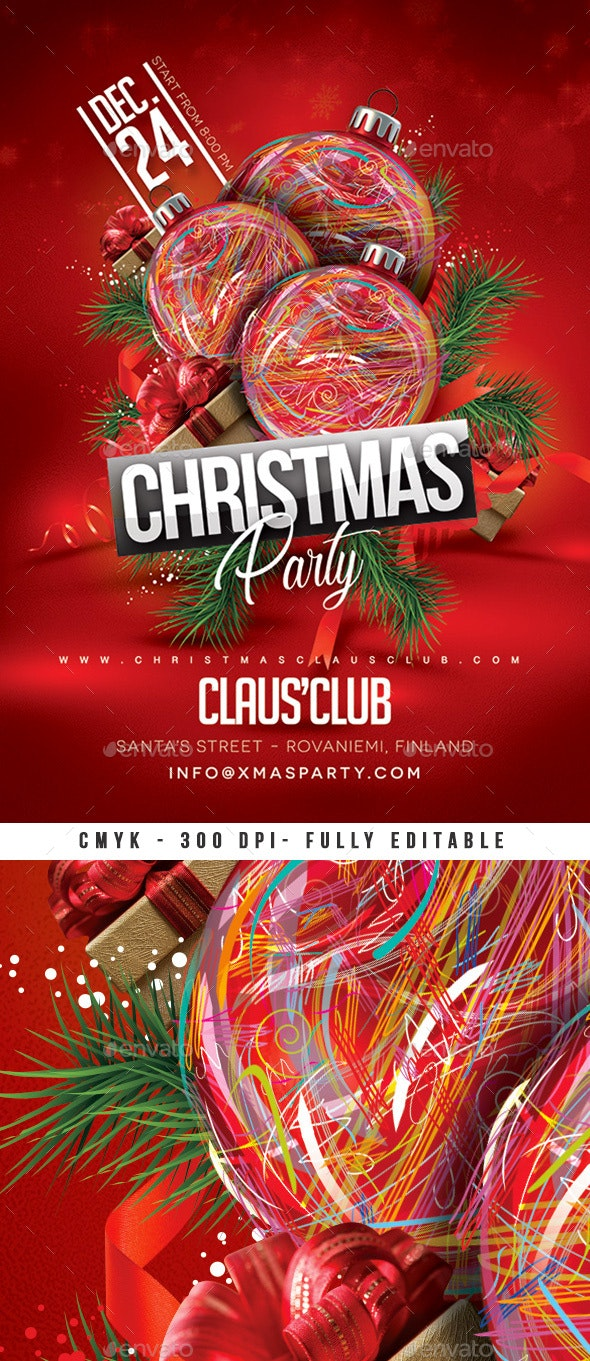 Xmas Party Christmas Flyer - Clubs & Parties Events