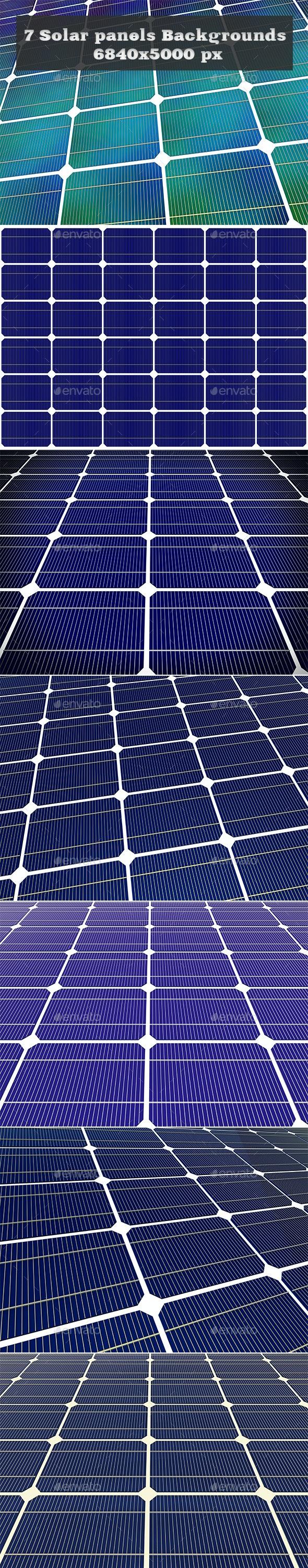 7 Solar Panels Backgrounds - Backgrounds Graphics