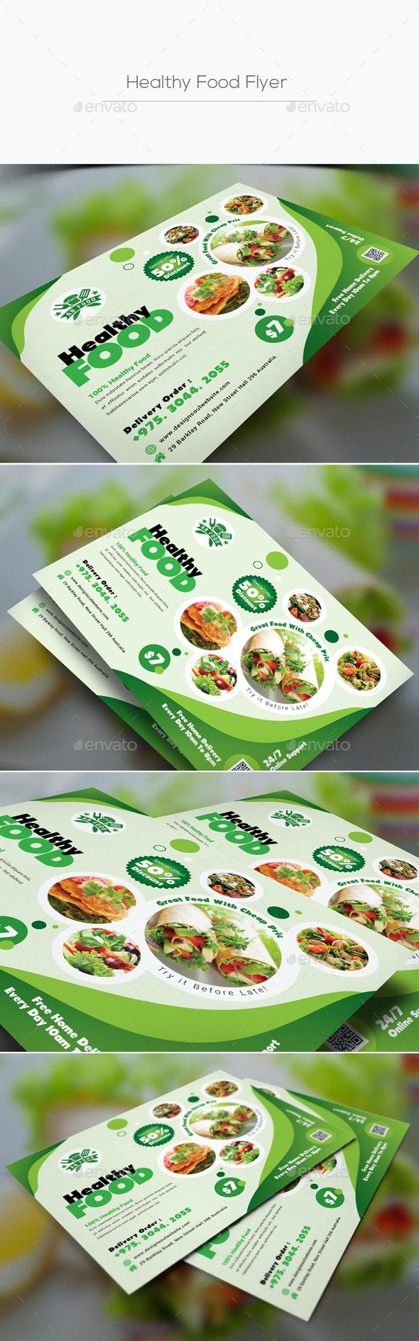 Healthy Food Flyer - Restaurant Flyers