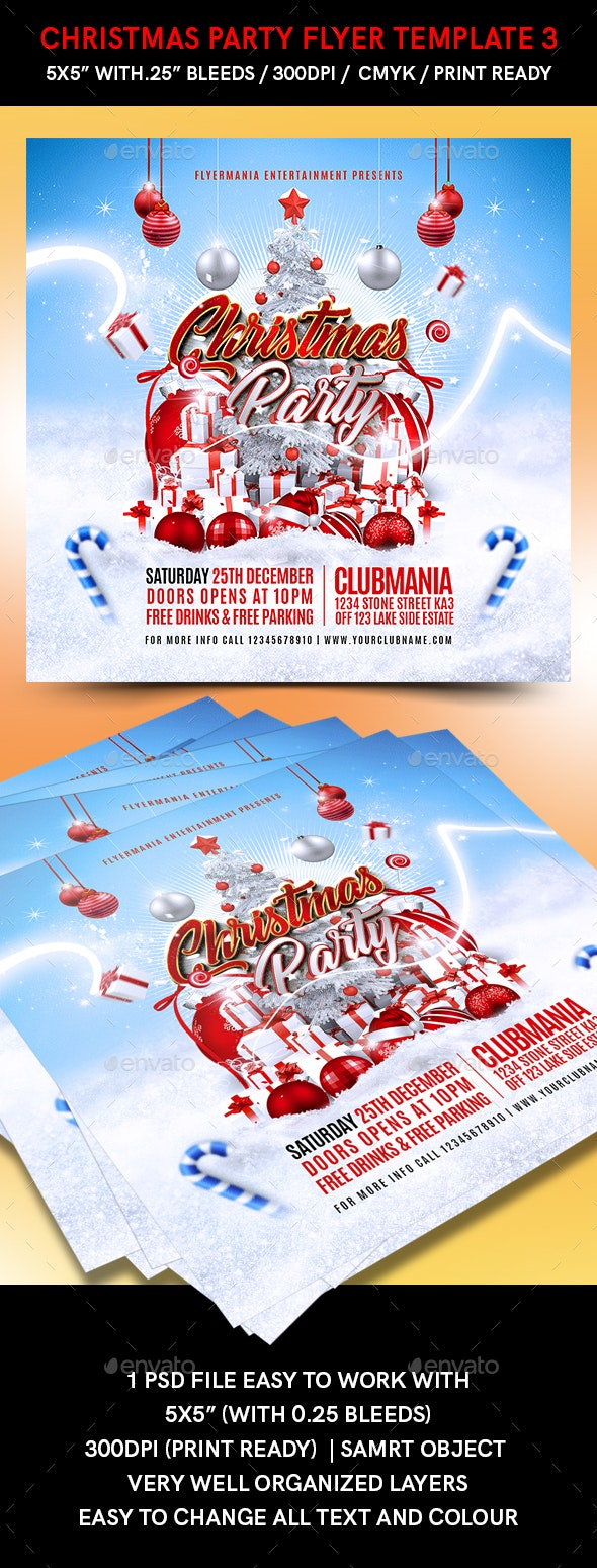 Christmas Party Flyer Template 3 - Events Flyers