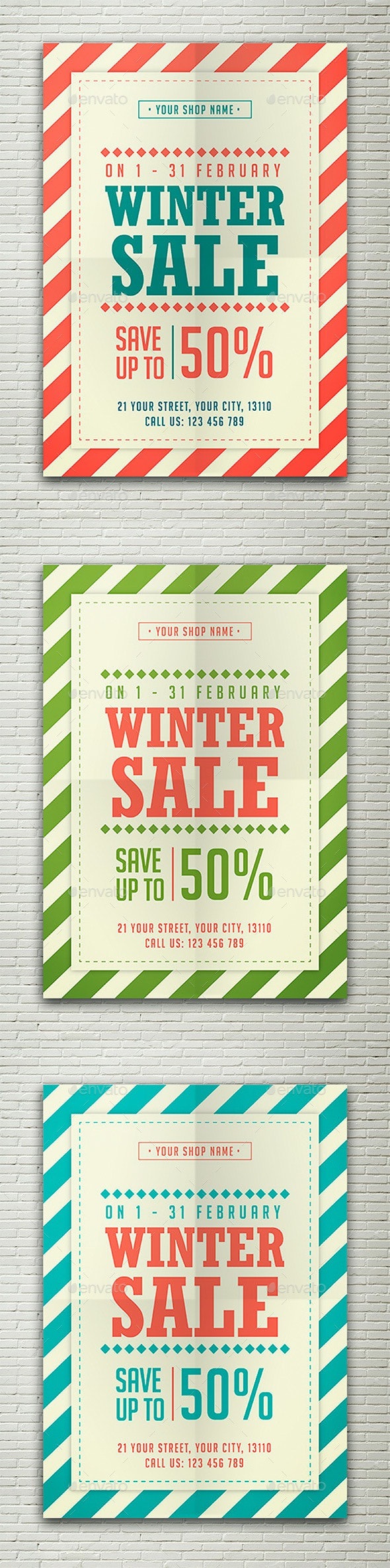 Winter Sale Flyer - Commerce Flyers