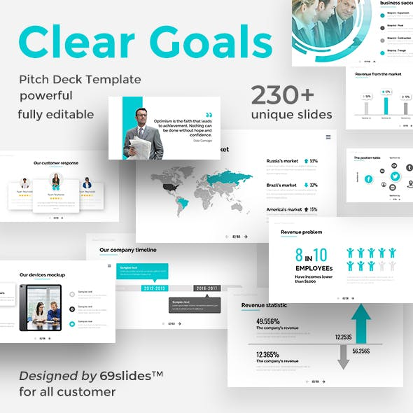 Clear Goals Premium Pitch Deck Keynote Template
