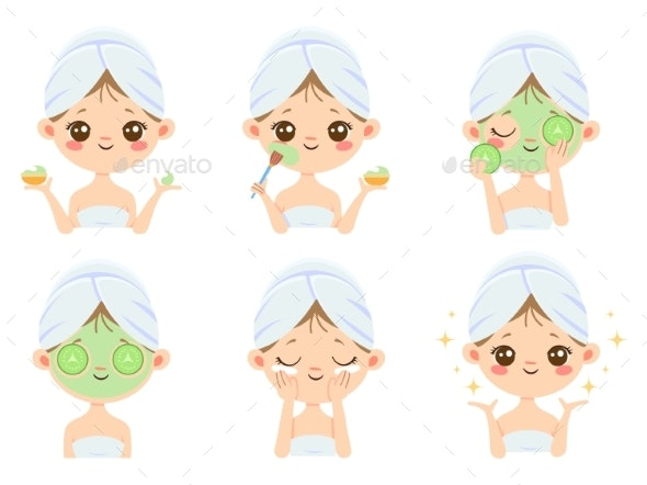 Beauty Face Mask - People Characters