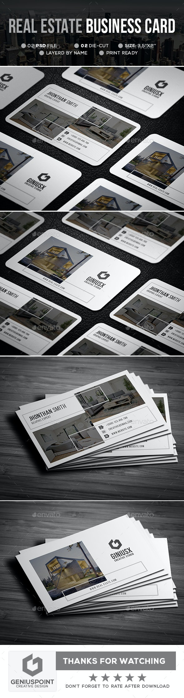 Real Estate Business Card - Business Cards Print Templates