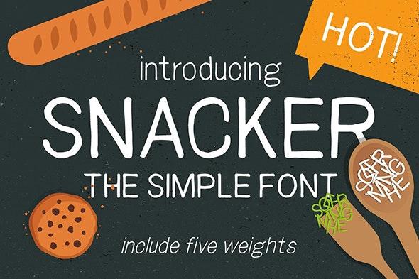 Snacker - tasty sans serif font - Hand-writing Script