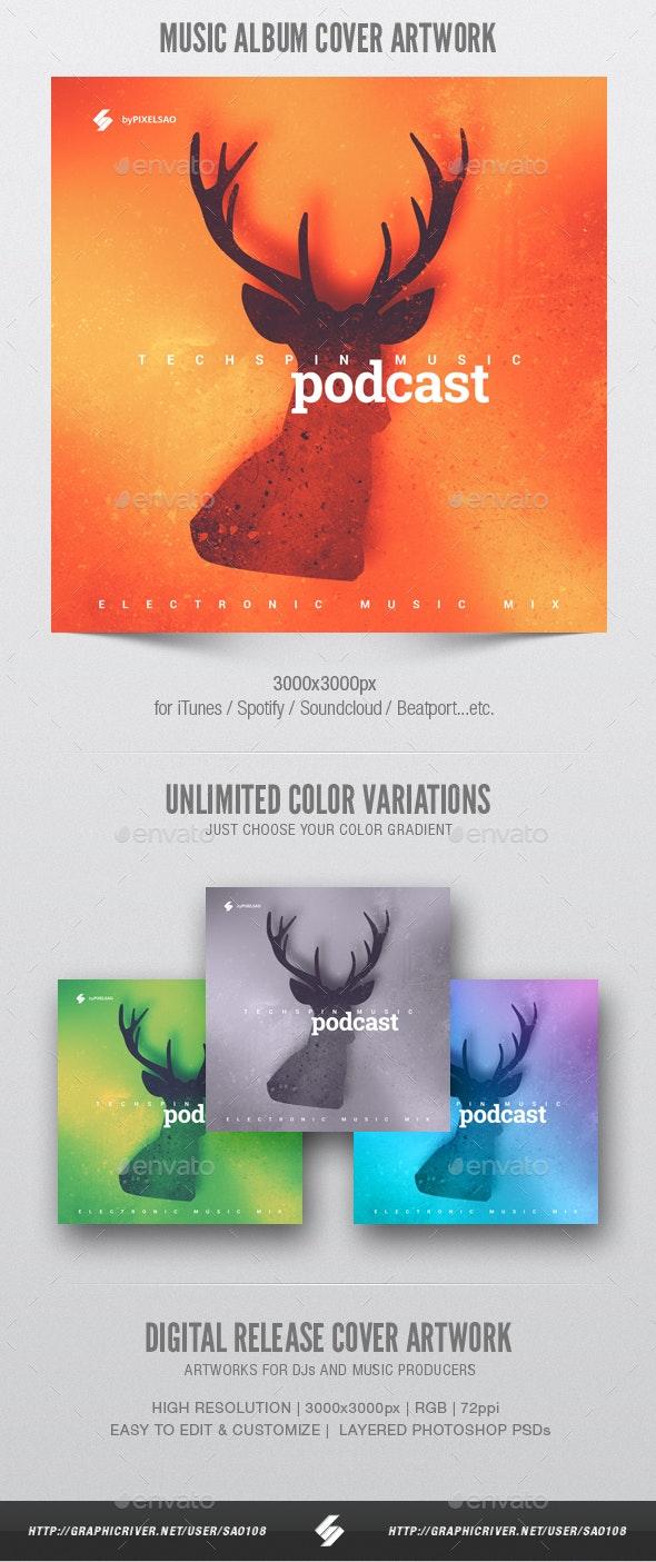 Deer - Music Album Cover Artwork Template - Miscellaneous Social Media