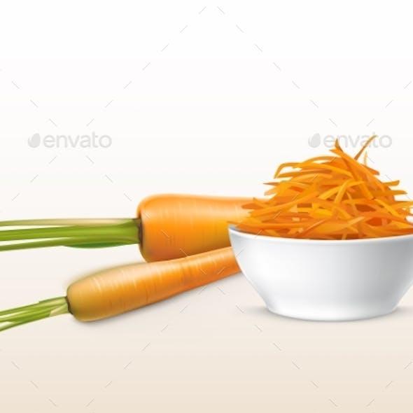 Vector Realistic Carrots