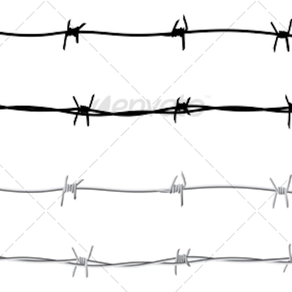 Seamless barbed wire