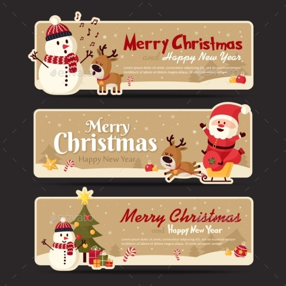 Set of Christmas Banner - Christmas Seasons/Holidays