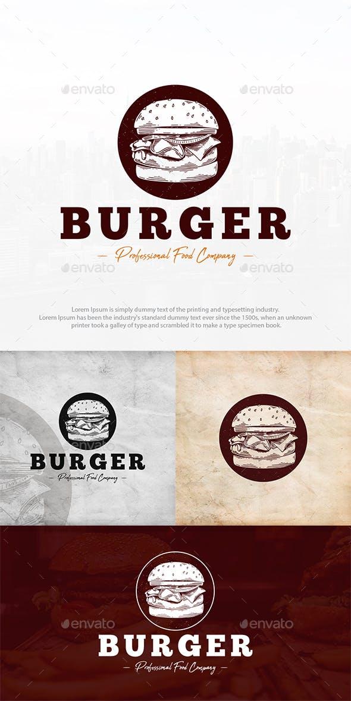Burger Shop Logo Template