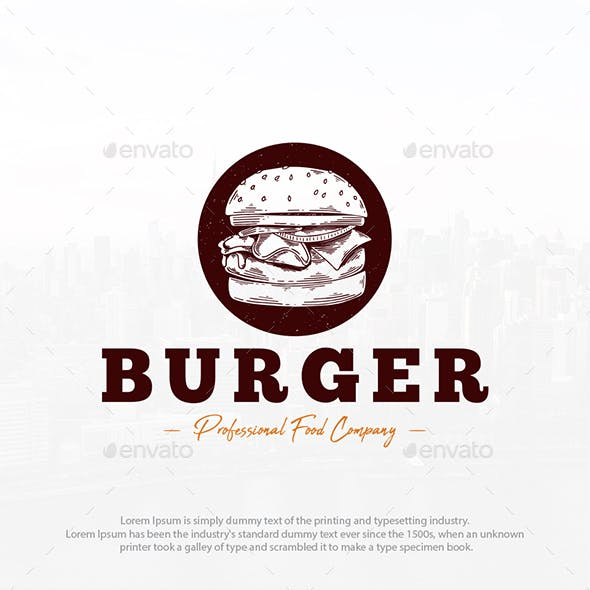 Burger Shop Logo Template