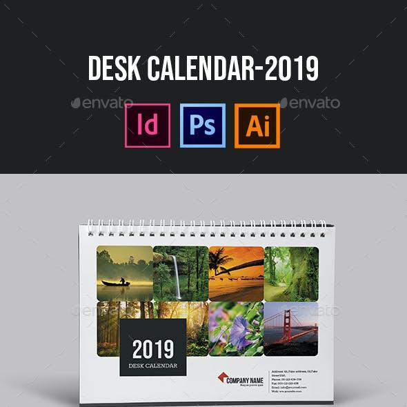 Desk Calendar for 2019   Updated