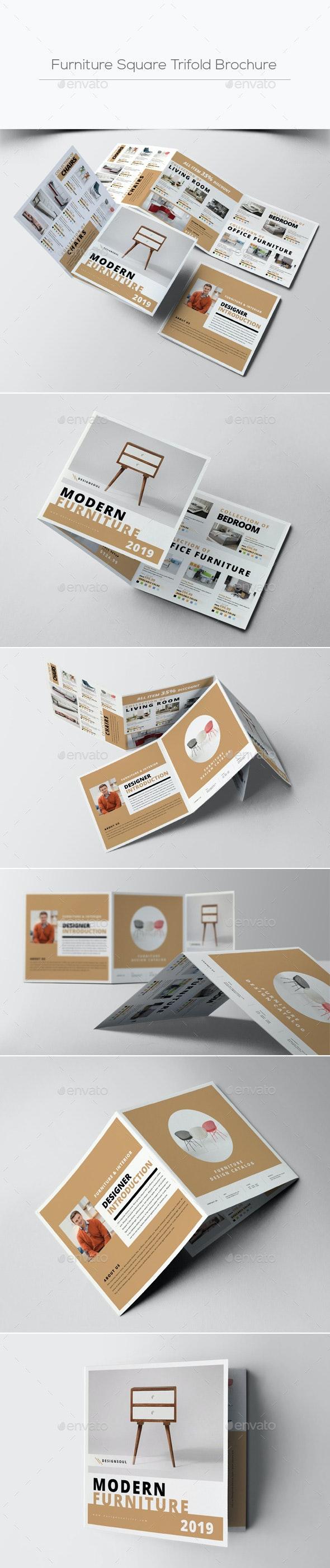 Furniture Square Trifold Brochure - Catalogs Brochures