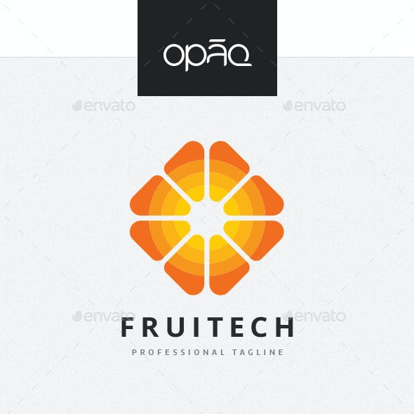 Abstract Fruit Logo
