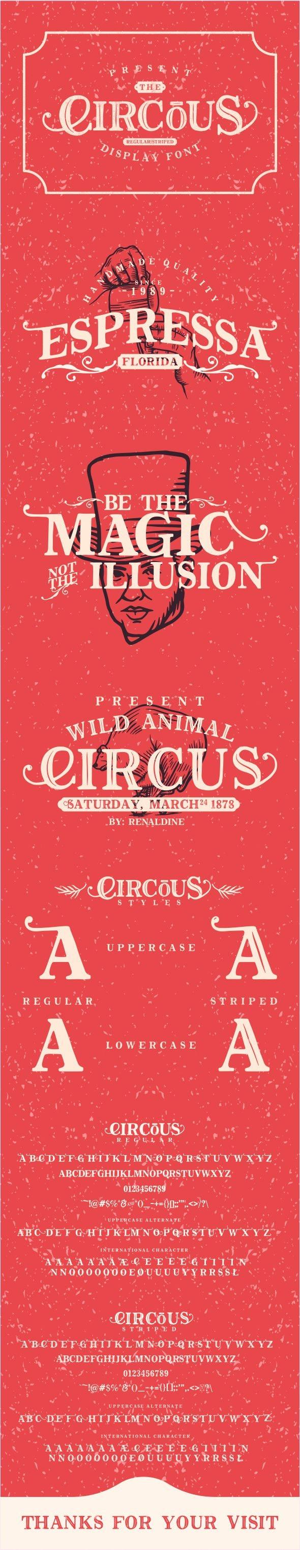 The Circous - Fancy Fonts